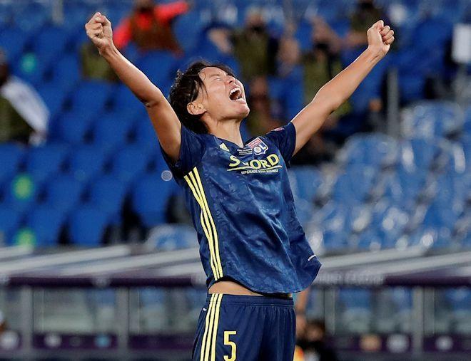 なでしこ熊谷紗希の左足スーパーミドルが決勝点! リヨンが前人未到の ...
